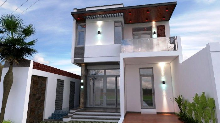 Three Bedroom Contemporary House With Spacious Terrace Cool House Concepts House Plans Modern Small House Design House Design