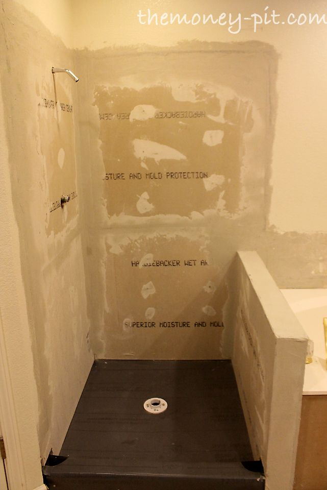 master bathroom days 810 shower walls and final shower pan