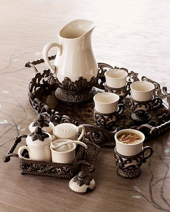 GG Collection Tray, Hostess Set, & Pitcher - Horchow