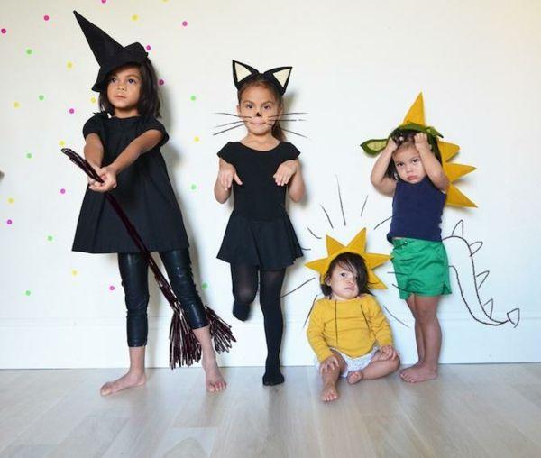 Karneval selber machen Hexe Hut Katzenohren Drachen