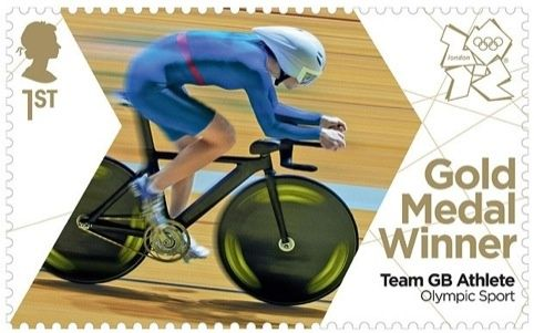 Each time a British athlete wins a gold medal in the Olympics, the Royal Mail will release a stamp with an image of them