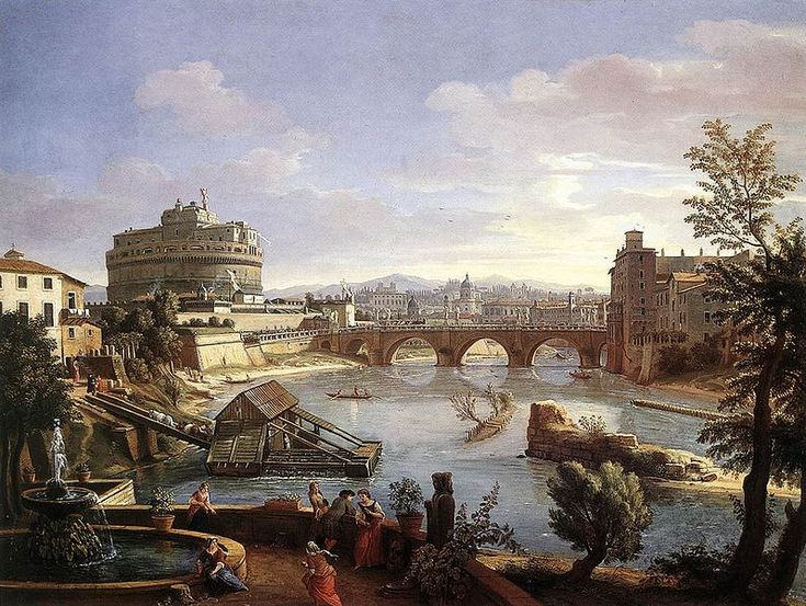 The Castel Sant'Angelo (Rome) from the South