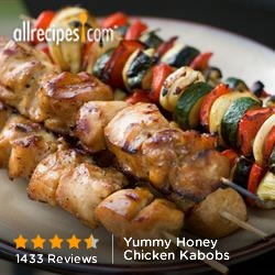 Yummy Honey Chicken Kabobs from Allrecipes.com #myplate #protein # ...