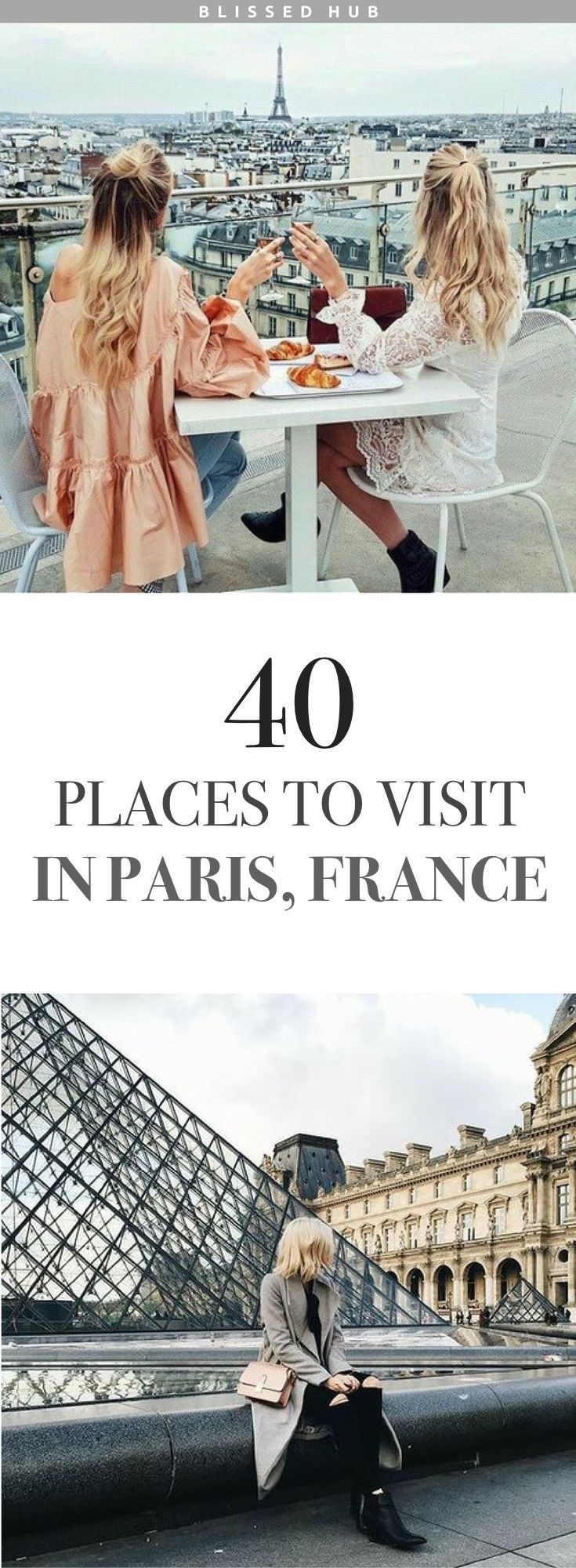 40 PLACES TO VIST IN PARIS FRANCE | paris, france, eiffel tower, the lourve, vacation, holiday ideas, places to go | Paris is so much for than the typical Eiffel Tower, who knew there were so many exquisite attractions!