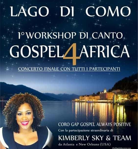7-8 settembre concerti di musica Gospel a Como . Per info http://www.corogap.it/concerto/1°-workshop-gospel-4-africa