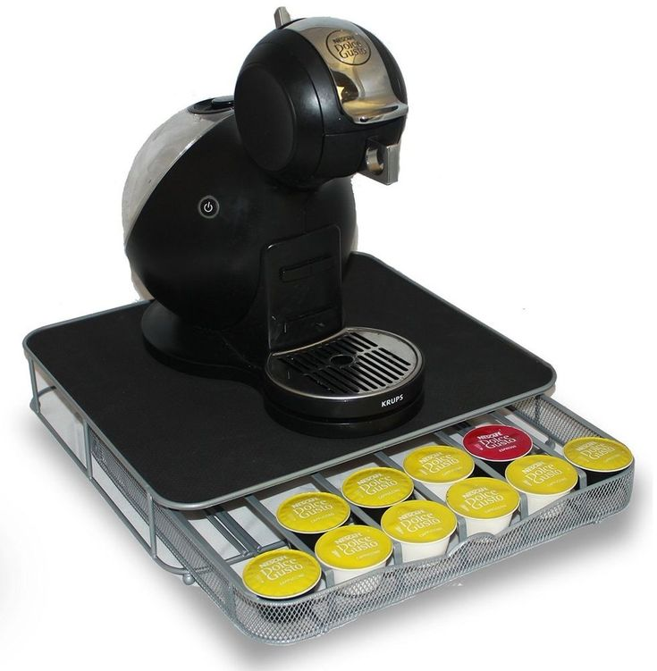 Dolce Gusto Coffee Pod Holder and Machine Stand With Drawer Holds up to 36 Pods