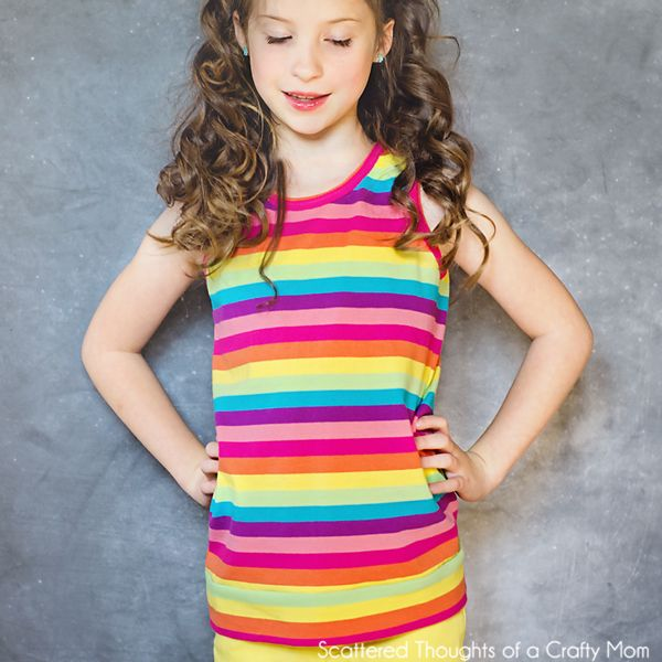 Scattered Thoughts of a Crafty Mom: Girls Knit Tank Top Pattern and Tutorial (size 3 to 8)