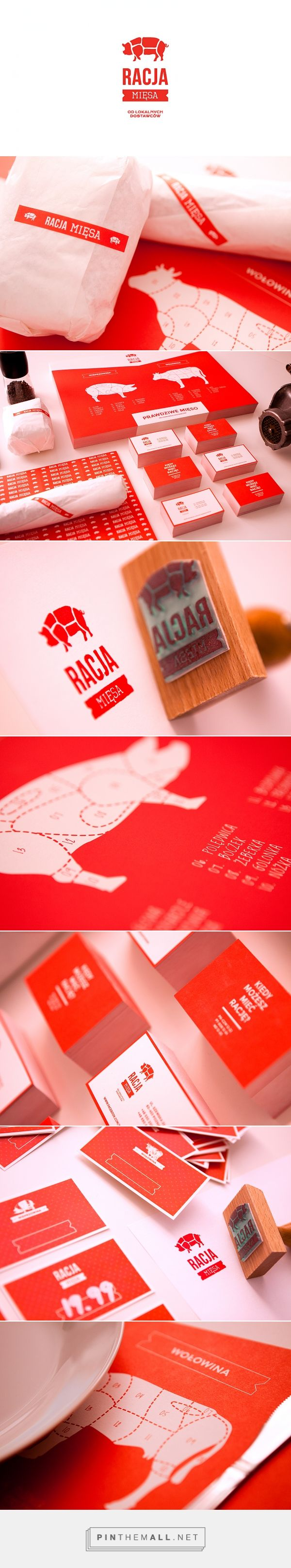 RACJA MIĘSA packaging branding on Behance curated by Packaging Diva PD. Guess it's pork for dinner : ) PD
