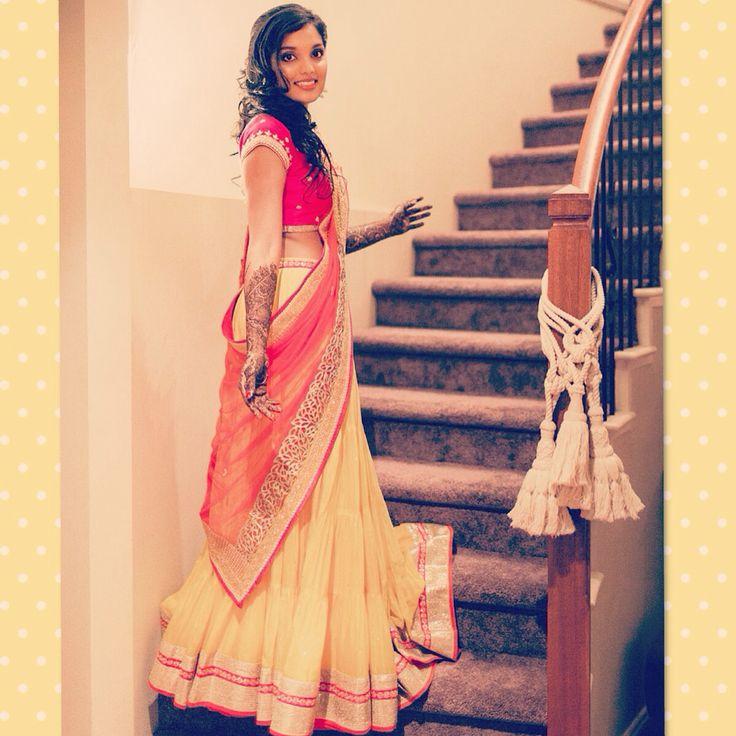 Mehendi outfit - by Chamee n palak