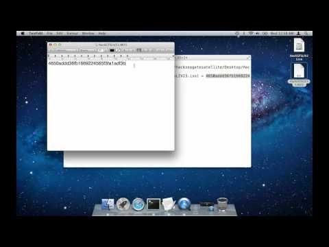 How to verify MD5 Checksum using a Mac - YouTube