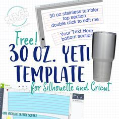 If you are on board the Yeti Rambler Tumbler Stainless Steel, 30 ozYeti® Rambler™ (or the various knockoff stainless steel tumblers with the same form factor) craze, I have a useful freebie for you to
