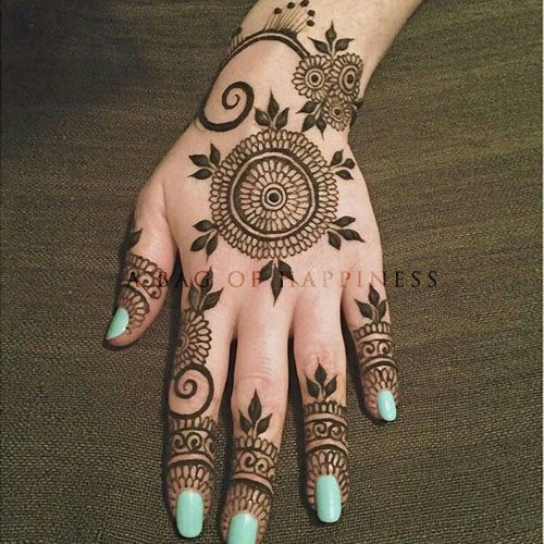 Unique Hand Mehndi Design http://www.abagofhappiness.com/101-unique-hand-mehndi-designs-images/
