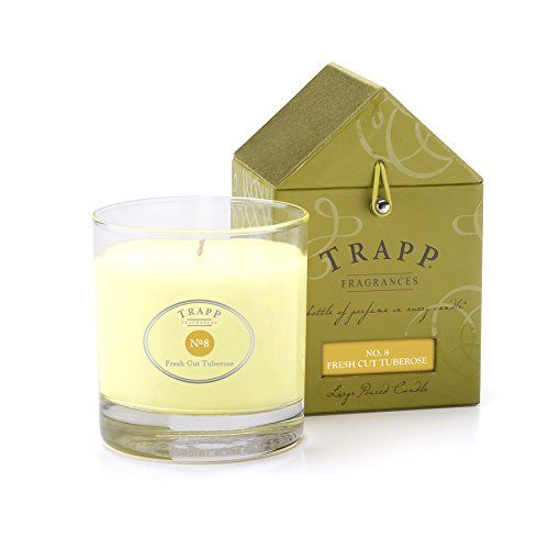 Trapp Signature Home Collection No. 8 Fresh Cut Tuberose Poured Candle, 7-Ounce