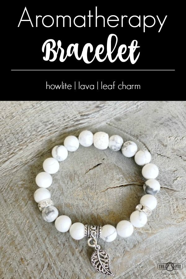 This howlite with silver leaf charm essential oil diffuser bracelet is a beautiful way to enjoy your essential oils. Just add a drop of your favourite essential oil to the lava bead for all day aromatherapy.  Click HERE to order or see more of my designs.