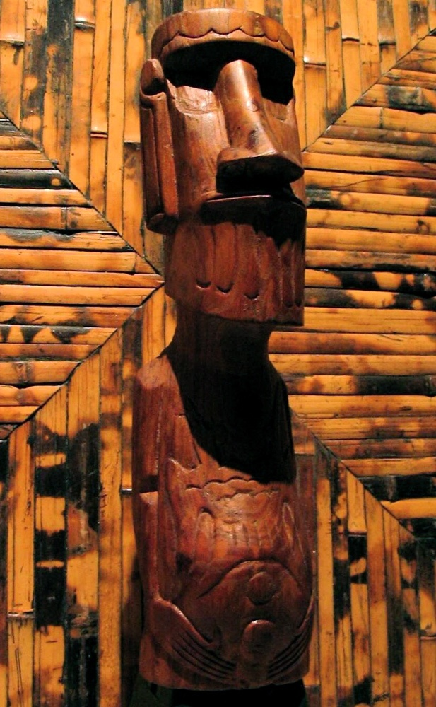 Easter Island Moai - perhaps as early as the '50's (carved from wood from Pitcairn Island)