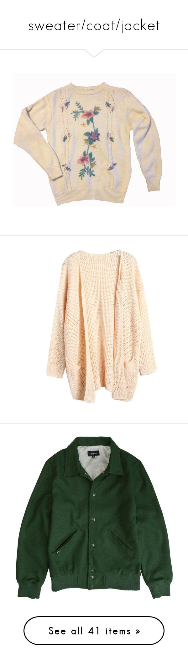 """""""sweater/coat/jacket"""" by signofthetimesx ❤ liked on Polyvore featuring tops, sweaters, shirts, jumpers, floral sweater, cut-out shoulder sweaters, embroidered sweater, floral embroidered sweater, pink polka dot shirt and cardigans"""