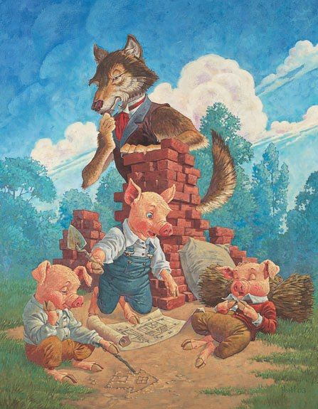 Three Little Pigs I think I remember this poster on the wall of my pediatrician!