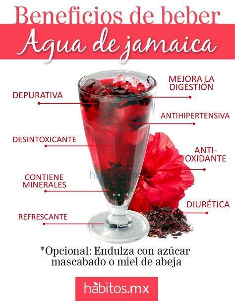 Agua de Jamaica, Fresca y con muchos Beneficios ..fuente: habitos.mx #nutricionysalud