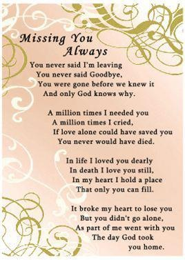 Gets me every time... Can never find the right words to describe what my heart feels about my daddy being gone but, this says it for me.
