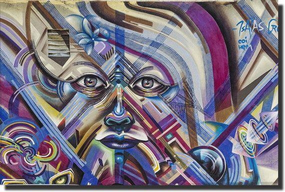 Modern Art  Graffiti Style  Canvas Print by AustralianHousePlans