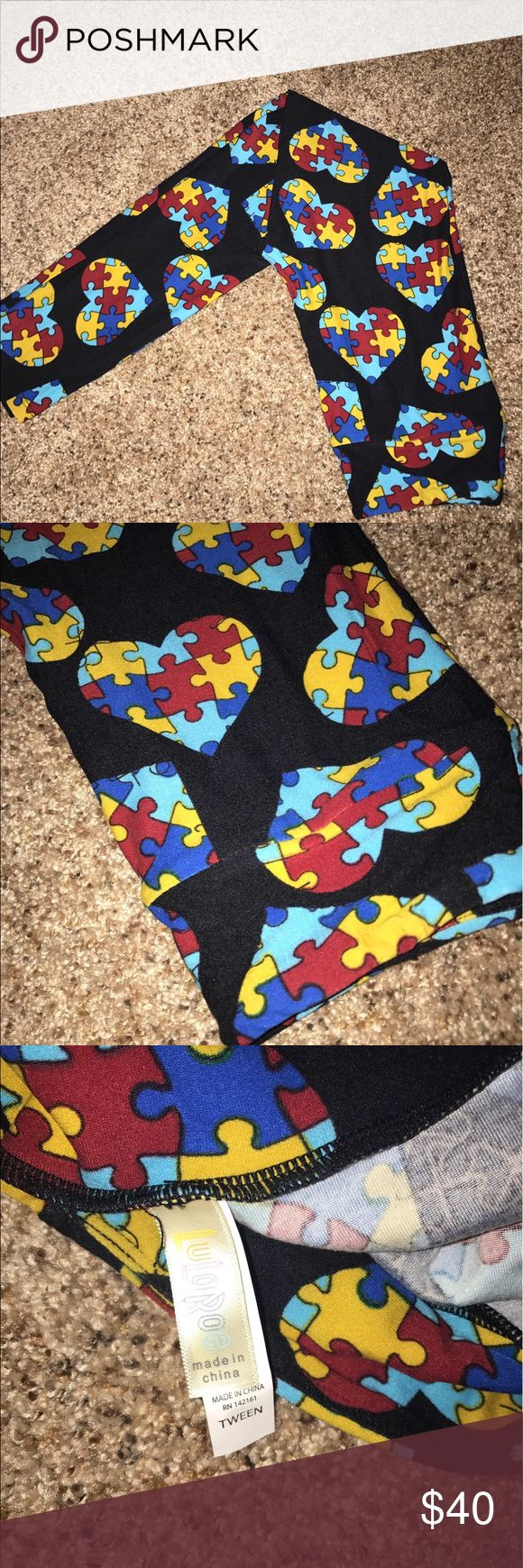 Lularoe leggings nwot tween Autism puzzle pieces Lularoe leggings nwot tween Autism puzzle pieces LuLaRoe Pants Leggings