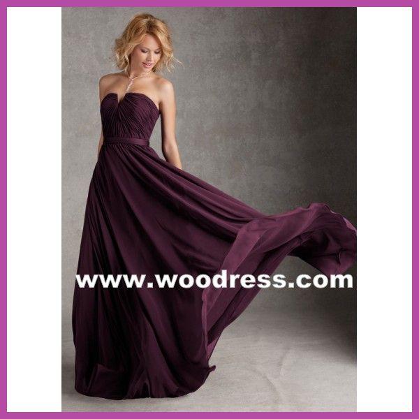 luxe strapless chiffon purple bridesmaid dresses style 20421