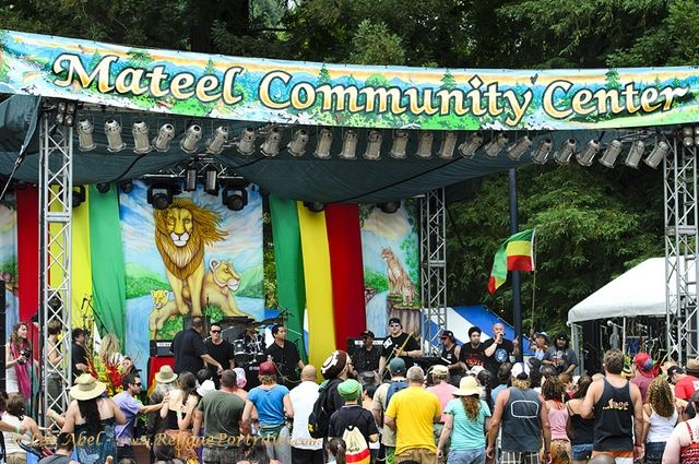 Mateel Community Center main stage at Reggae on the River 2011