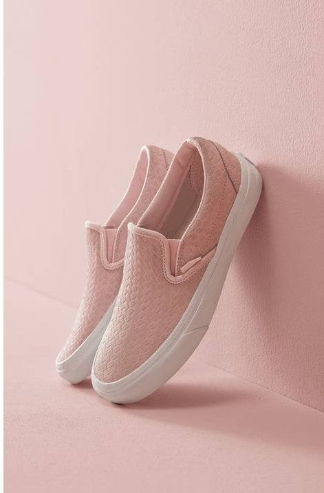 A clean white cupsole boosts a street-smart slip-on sneaker available in classic canvas or rich leather—while elastic goring ensures a custom fit.