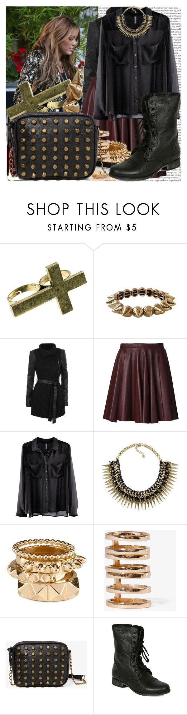 """""""heavy metal christmas."""" by valerieking ❤ liked on Polyvore featuring Cyrus, Chanel, Club Manhattan, Humble Chic, Gestuz, Beckley by Melissa, H&M, Zara, Forever 21 and Steve Madden"""