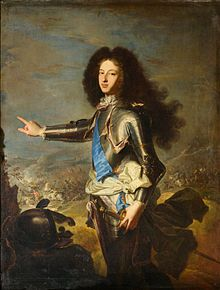 Louis de France, duc de Bourgogne (1682-1712), oldest son of Louis, Grand Dauphin and Marie-Anne-Victoire of Bavaria, 1704 by Hyacinthe Rigaud.  Louis was known throughout his life as Le Petit Dauphin, and was Dauphin from the time of his father's death in 1711 until his own death in 1712.