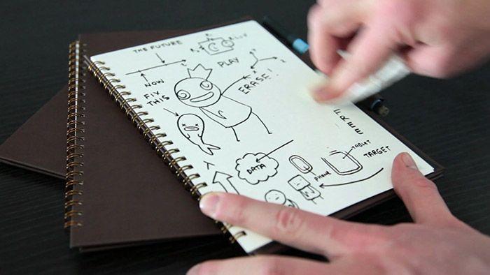 Wipebook Pro je zápisník s lehce mazatelnými stránkami