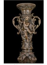 Copper Brass CHINESE crafts decor ation Asian  Abstract Art Sculpture Bronze Copper Angel Prize Cup Bottle Vase Statue Figurine