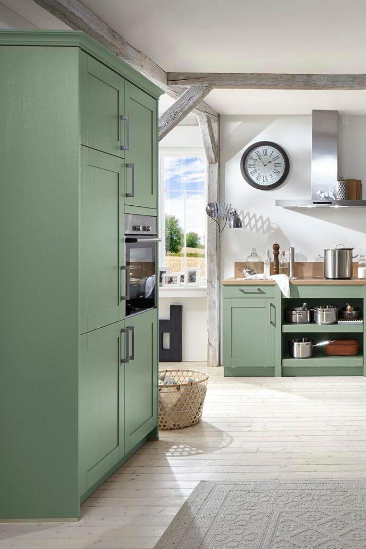 Schüller Casa Lack Küche in Salbeigrün II  Küche, Küchen ideen