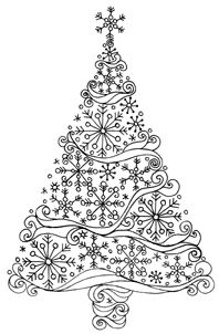 Winter Wonderland tree - card inspiration punch our a bunch of snowflakes and arrange them into a tree!