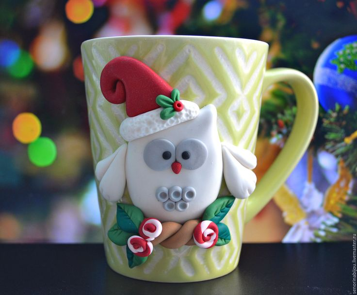 Купить Кружка с новогодней совушкой - комбинированный, совушка, сова, кружка на заказ, кружка в подарок