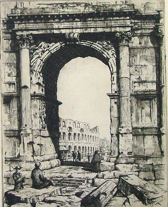 """ŠIMON Tavík František : """"Arco Tito Forum, Řím"""""""