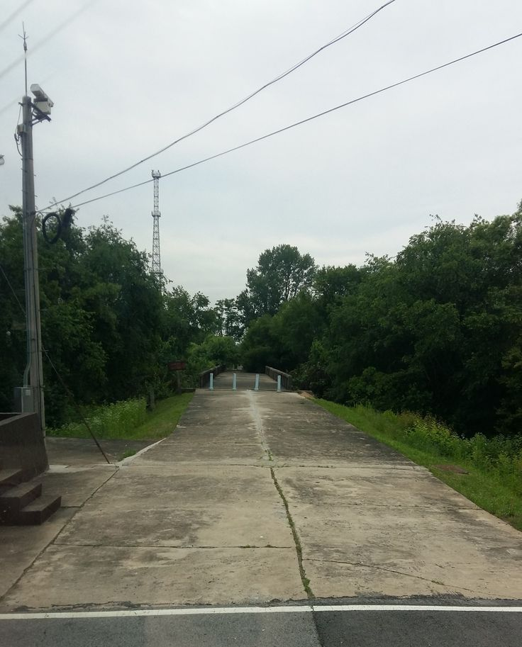 The Bridge of No Return - we must remain on the bus while driving through this area.