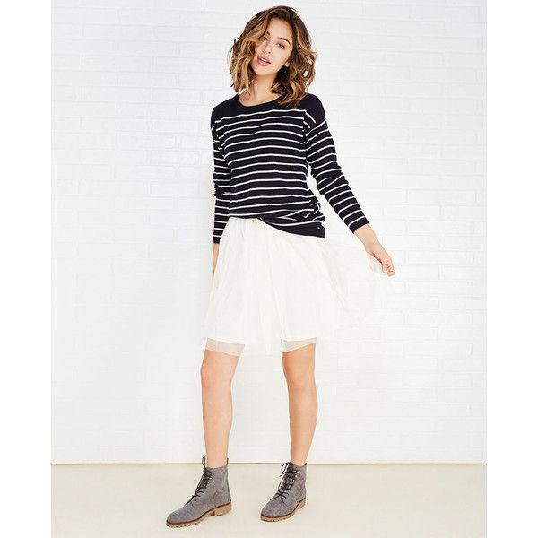 Hot Shot Hk Llc  Tulle Midi Tutu Skirt (€19) ❤ liked on Polyvore featuring skirts, ivory, wet seal, winter white skirt, white midi skirt, white tulle skirt, tutu skirts and ivory tulle skirt