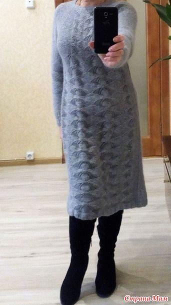 Вдохновилась... http://www.stranamam.ru/ Пряжа - соединила две нитки (всего около 900 г) Вязала сверху вниз самым ленивейшим регланом.