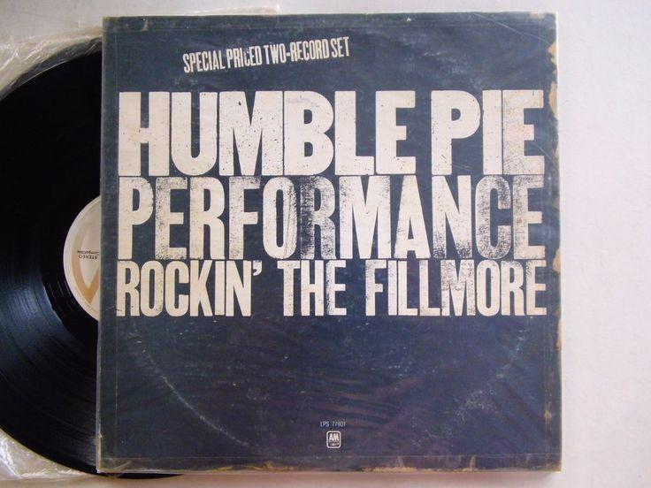 "Humble Pie Performance Rockin The Fillmore 1971 Classic A&M 2LP Vinyl Record 12"" #BluesRock"