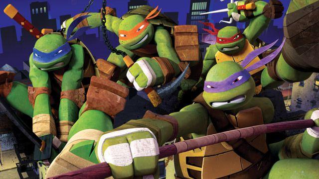 L-R: Leonardo, Michaelangelo, Donatello & Raphael