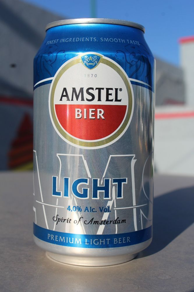 New Oz ML Amstel Light Beer Can Brewed In Mexico - Age to drink in mexico