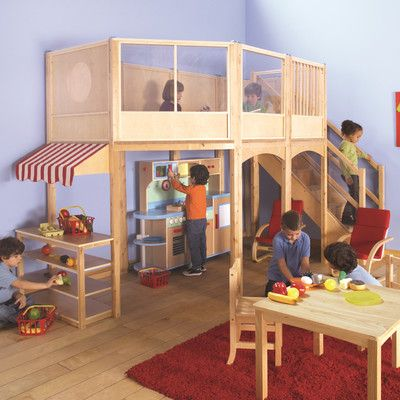 Loft Market Playhouse - this would have been great for my basement