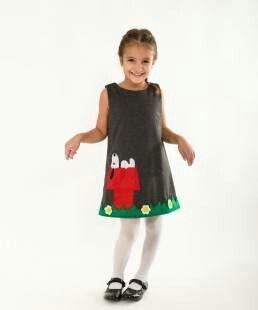 Snoopy handmade girls dress, winter autumn dress,handmade dresses