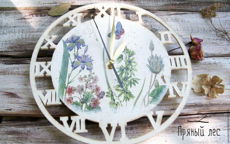 Купить Белые часы в стиле прованс - белый, часы, часы настенные, часы деревянные