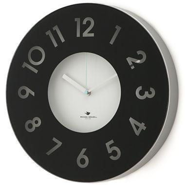 Michael Graves Design Black Wall Clock - jcpenney