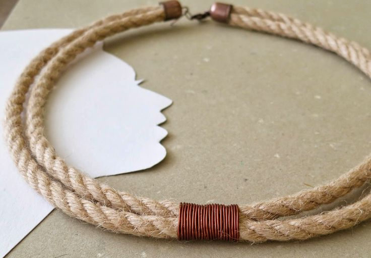 Rope Necklace with Cooper Detail