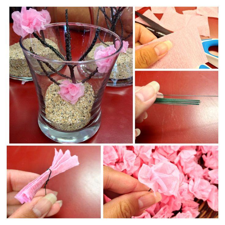 making cherry blossom centerpieces diy personal pins Cherry Blossom Table Decorations Cherry Blossom Table Decorations