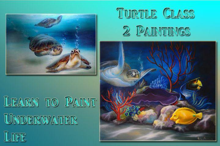 Art Apprentice Online - Acrylic - Marine Life -Turtle Tag - Online Art Class - with Instructor Neadeen Masters, CDA, $70.00 (http://store.artapprenticeonline.com/acrylic-marine-life-turtle-tag-online-art-class-with-instructor-neadeen-masters-cda/)