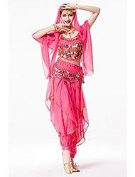 danse du ventre tenues de performance sur scène avec le costume pantalon de style indien 4 pièces